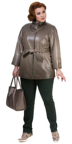 Кожаная куртка эко кожа 100% П/А, цвет бежевый, арт. 01700440  - цена 6290 руб.  - магазин TOTOGROUP
