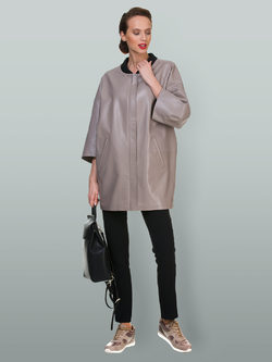 Кожаная куртка эко кожа 100% П/А, цвет бежевый, арт. 01700448  - цена 7490 руб.  - магазин TOTOGROUP