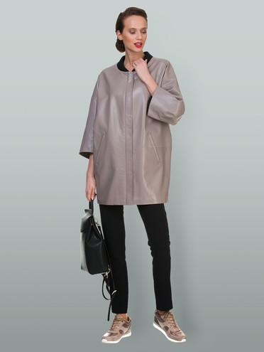 Кожаная куртка эко-кожа 100% П/А, цвет бежевый, арт. 01700448  - цена 2990 руб.  - магазин TOTOGROUP
