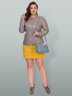 Кожаная куртка эко кожа 100% П/А, цвет бежевый, арт. 01700485  - цена 5990 руб.  - магазин TOTOGROUP