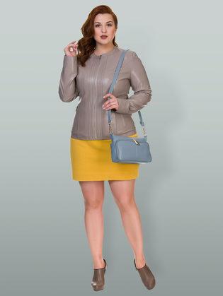 Кожаная куртка эко кожа 100% П/А, цвет бежевый, арт. 01700485  - цена 5890 руб.  - магазин TOTOGROUP