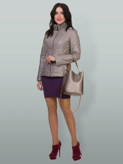 Кожаная куртка эко кожа 100% П/А, цвет бежевый, арт. 01700529  - цена 9990 руб.  - магазин TOTOGROUP