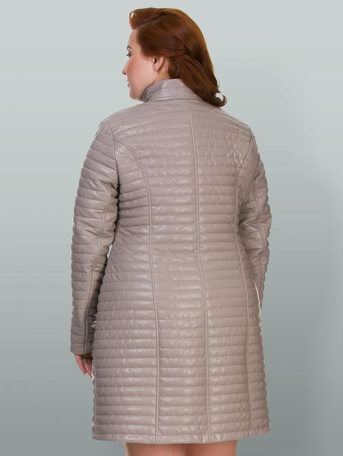 Кожаное пальто артикул 01700555/48 - фото 3