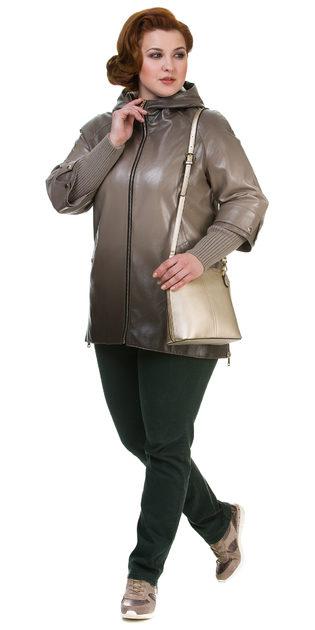 Кожаная куртка эко кожа 100% П/А, цвет бежевый, арт. 01700596  - цена 7990 руб.  - магазин TOTOGROUP