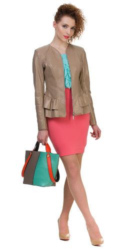 Кожаная куртка кожа овца, цвет бежевый, арт. 01700597  - цена 9900 руб.  - магазин TOTOGROUP