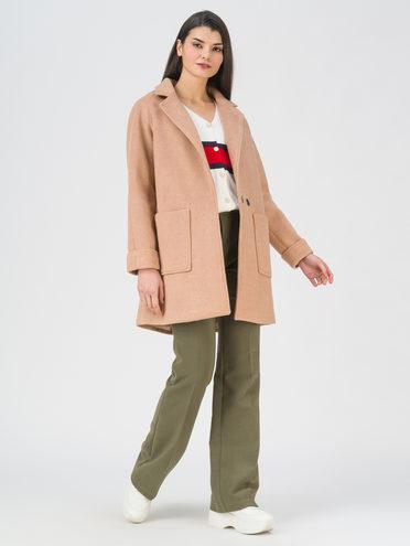 Текстильная куртка 35% шерсть, 65% полиэстер, цвет бежевый, арт. 01711397  - цена 4990 руб.  - магазин TOTOGROUP