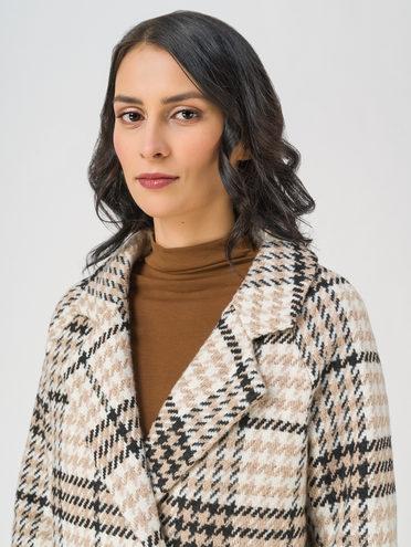 Текстильная куртка 35% шерсть, 65% полиэстер, цвет бежевый, арт. 01711400  - цена 5590 руб.  - магазин TOTOGROUP