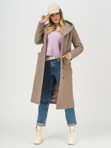 Текстильное пальто 65% хлопок , 35% полиэстер, цвет бежевый, арт. 01711424  - цена 6990 руб.  - магазин TOTOGROUP