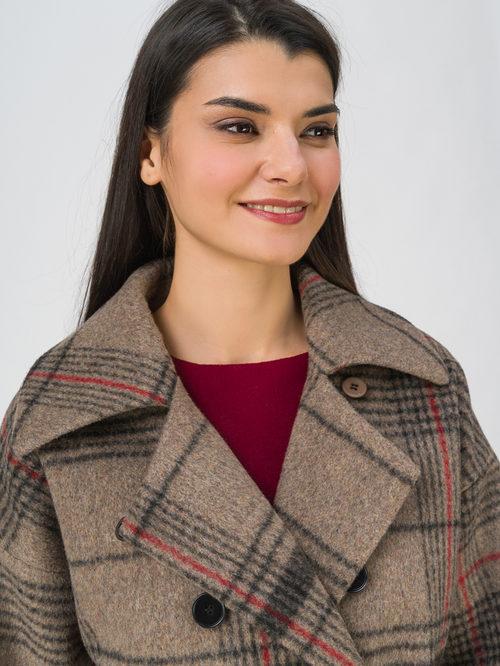 Текстильное пальто артикул 01711453/40 - фото 3