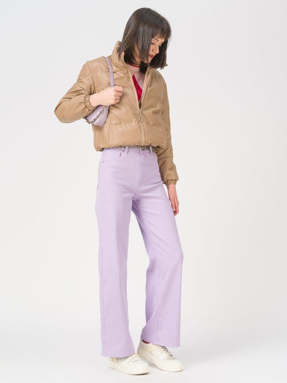 Кожаная куртка эко-кожа 100% П/А, цвет бежевый, арт. 01711486  - цена 2990 руб.  - магазин TOTOGROUP
