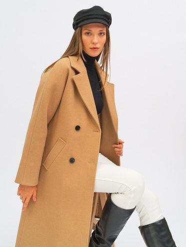 Текстильное пальто 95% лавсан, 5% вискоза, цвет бежевый, арт. 01711749  - цена 8490 руб.  - магазин TOTOGROUP