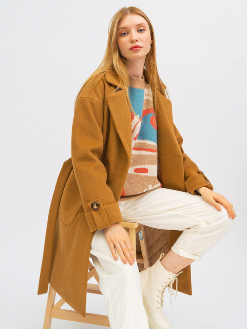Текстильное пальто артикул 01711750/40 - фото 3
