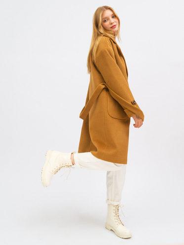 Текстильное пальто 95% лавсан, 5% вискоза, цвет бежевый, арт. 01711750  - цена 7990 руб.  - магазин TOTOGROUP