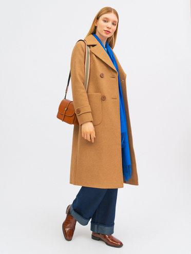 Текстильное пальто 40% шерсть, 30% вискоза, 30% полиамид, цвет бежевый, арт. 01719965  - цена 8990 руб.  - магазин TOTOGROUP