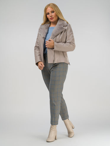 Кожаная куртка эко-кожа 100% П/А, цвет бежевый, арт. 01809299  - цена 8990 руб.  - магазин TOTOGROUP