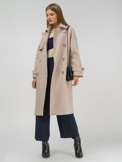 Текстильное пальто артикул 01809320/50