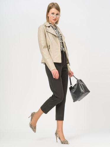 Кожаная куртка эко-кожа 100% П/А, цвет бежевый, арт. 01809913  - цена 3990 руб.  - магазин TOTOGROUP