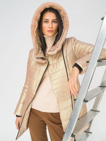 Кожаная куртка эко-кожа 100% П/А, цвет бежевый, арт. 01810002  - цена 14190 руб.  - магазин TOTOGROUP