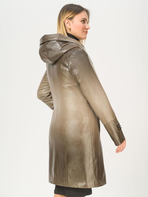 Кожаное пальто артикул 01810027/50 - фото 3