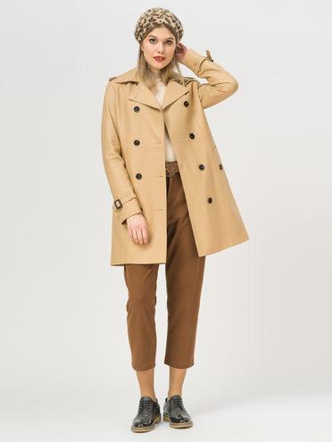 Кожаное пальто кожа, цвет бежевый, арт. 01810065  - цена 15990 руб.  - магазин TOTOGROUP
