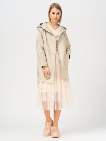 Кожаное пальто эко-кожа 100% П/А, цвет бежевый, арт. 01810068  - цена 4990 руб.  - магазин TOTOGROUP
