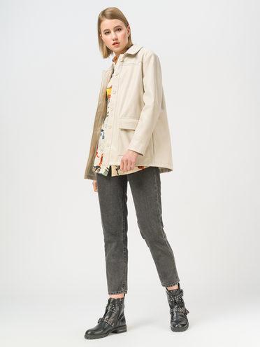 Кожаная куртка эко-кожа 100% П/А, цвет бежевый, арт. 01810069  - цена 3990 руб.  - магазин TOTOGROUP