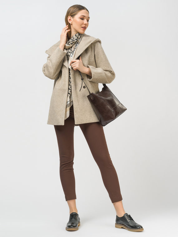 Текстильная куртка 35% шерсть, 65% полиэстер, цвет бежевый, арт. 01810083  - цена 6990 руб.  - магазин TOTOGROUP