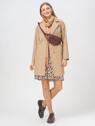 Текстильная куртка 35% шерсть, 65% полиэстер, цвет бежевый, арт. 01810089  - цена 5890 руб.  - магазин TOTOGROUP