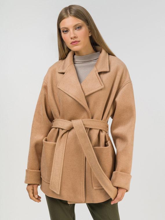 Текстильная куртка 35% шерсть, 65% полиэстер, цвет бежевый, арт. 01810105  - цена 5890 руб.  - магазин TOTOGROUP