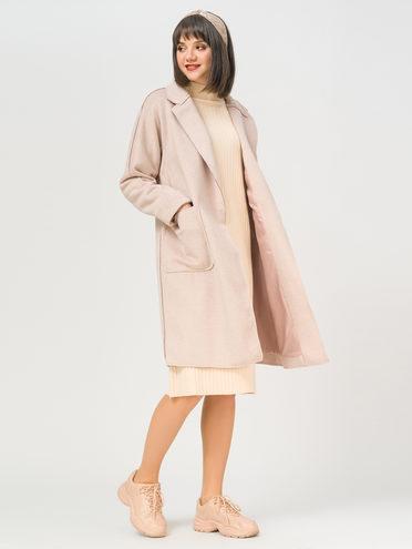 Текстильное пальто 35% шерсть, 65% полиэстер, цвет бежевый, арт. 01810109  - цена 5590 руб.  - магазин TOTOGROUP