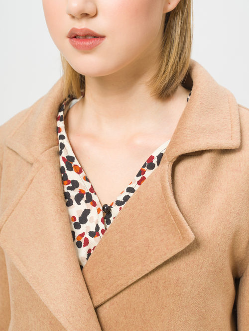Текстильное пальто артикул 01810117/40 - фото 4