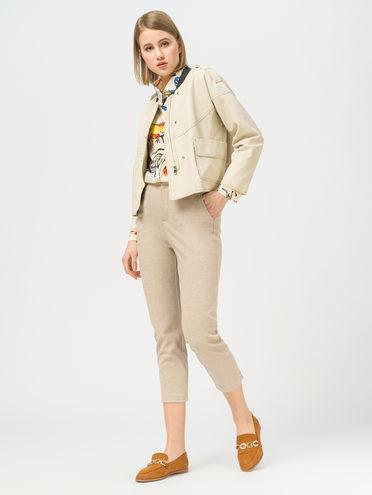 Кожаная куртка эко-кожа 100% П/А, цвет бежевый, арт. 01810125  - цена 2990 руб.  - магазин TOTOGROUP