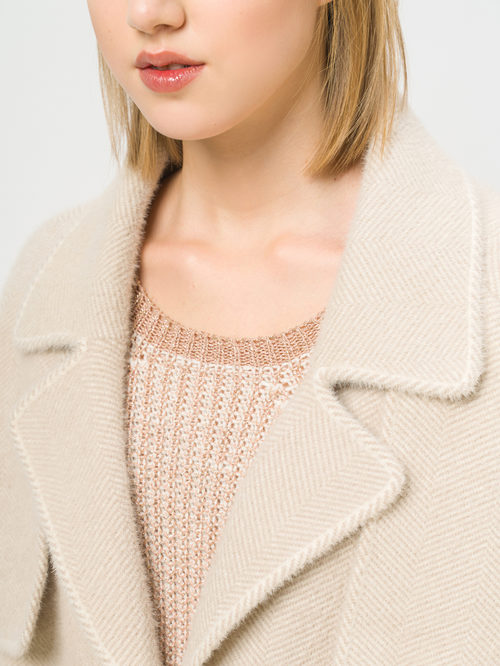 Текстильное пальто артикул 01810180/44 - фото 4