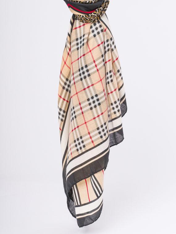Шарф 50%хлопок,50%бамбук, цвет бежевый, арт. 01810286  - цена 640 руб.  - магазин TOTOGROUP