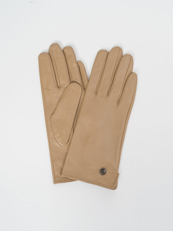 Перчатки кожа, цвет бежевый, арт. 01810312  - цена 1190 руб.  - магазин TOTOGROUP