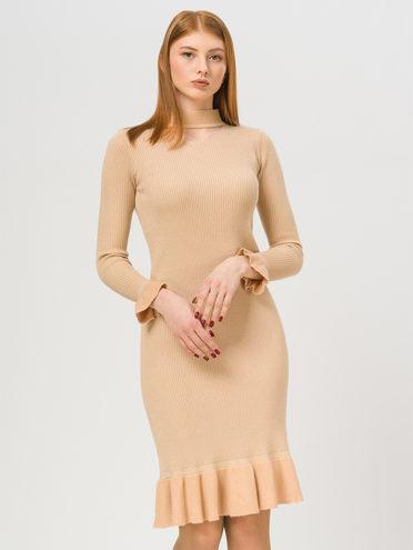 Платье 50% вискоза, 28% полиэстер, 22% нейлон, цвет бежевый, арт. 01810343  - цена 1750 руб.  - магазин TOTOGROUP