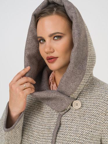 Текстильное пальто 35% шерсть, 65% полиэстер, цвет бежевый, арт. 01810667  - цена 8990 руб.  - магазин TOTOGROUP