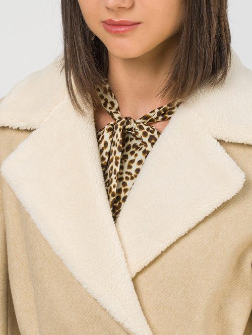 Текстильное пальто артикул 01810721/42 - фото 3