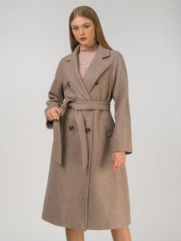 Текстильное пальто 30% шерсть, 70% п.э, цвет бежевый, арт. 01810724  - цена 7990 руб.  - магазин TOTOGROUP