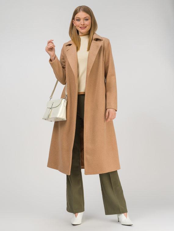 Текстильное пальто 30%шерсть, 70% п.э, цвет бежевый, арт. 01810725  - цена 8490 руб.  - магазин TOTOGROUP