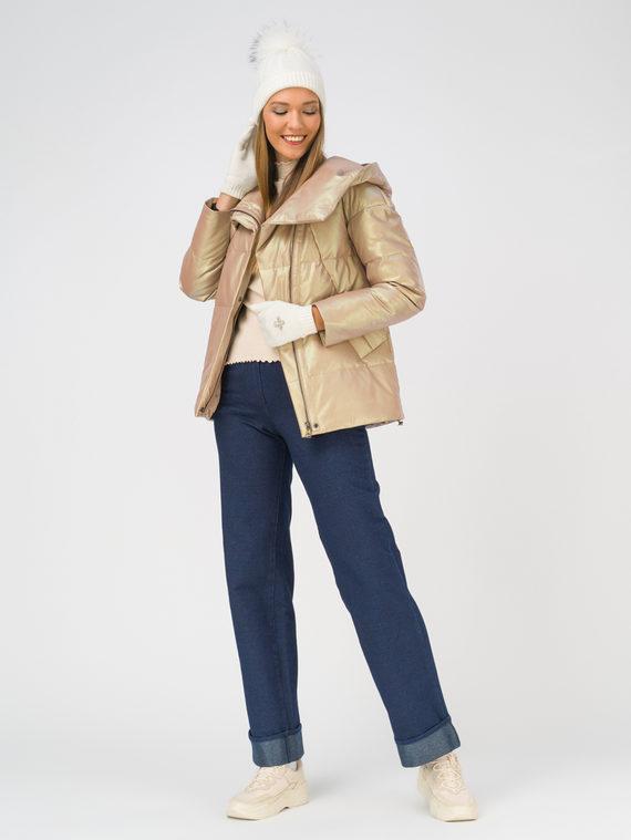 Кожаная куртка эко-кожа 100% П/А, цвет бежевый, арт. 01810777  - цена 7990 руб.  - магазин TOTOGROUP
