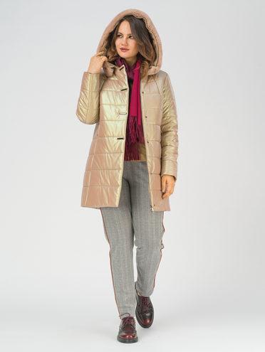 Кожаная куртка эко-кожа 100% П/А, цвет бежевый, арт. 01810785  - цена 14190 руб.  - магазин TOTOGROUP