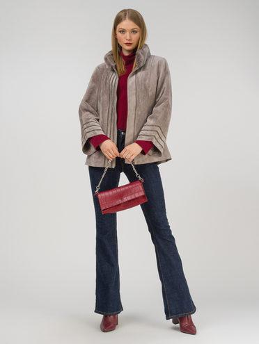 Кожаная куртка эко-замша 100% П/А, цвет бежевый, арт. 01810799  - цена 14190 руб.  - магазин TOTOGROUP