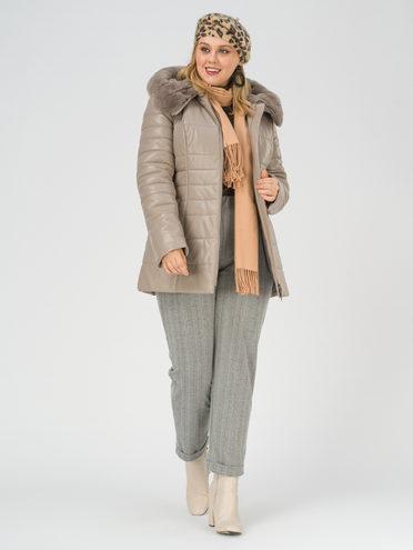 Кожаная куртка эко-кожа 100% П/А, цвет бежевый, арт. 01810806  - цена 12690 руб.  - магазин TOTOGROUP