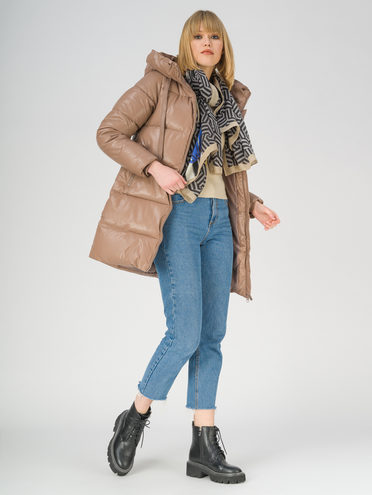 Кожаная куртка эко-кожа 100% П/А, цвет бежевый, арт. 01811210  - цена 4990 руб.  - магазин TOTOGROUP