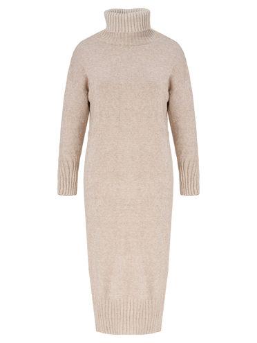 Платье 60% шерсть, 33% нейлон, 7% полиэстер, цвет бежевый, арт. 01811342  - цена 1950 руб.  - магазин TOTOGROUP