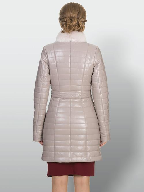 Кожаное пальто артикул 01902235/42 - фото 3