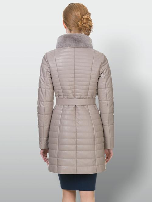 Кожаное пальто артикул 01902641/42 - фото 3