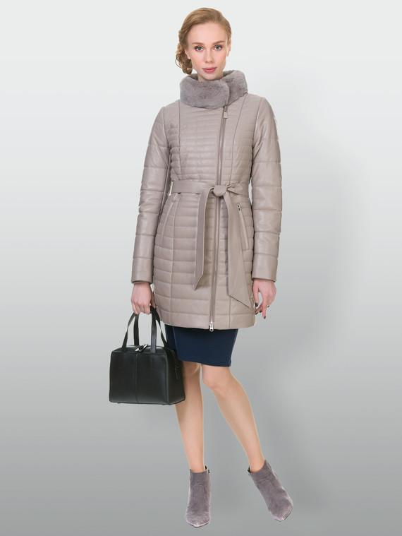 Кожаное пальто кожа , цвет бежевый, арт. 01902641  - цена 15990 руб.  - магазин TOTOGROUP