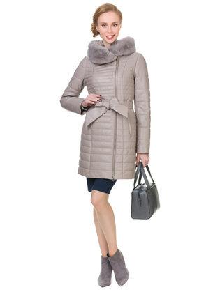 Кожаное пальто кожа овца, цвет бежевый, арт. 01902642  - цена 25590 руб.  - магазин TOTOGROUP